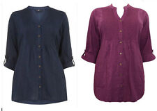 Evans Patternless 3/4 Sleeve Tops & Shirts for Women