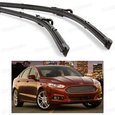 2Pcs Car Front Windshield Wiper Blade Bracketless for Ford Fusion 2013-2016