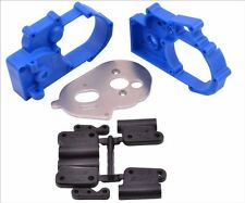 NEW RPM TRAXXAS 2WD SLASH XL5 VXL BLUE HYBRID GEARBOX HOUSING REAR MOUNTS 73615