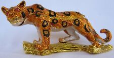 QIFU Rare Leopard On Tree Swarovski Collectable Decorative Pill/Trinket Box