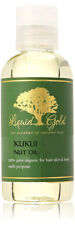 4 Oz Liquid Gold Kukui Nut Oil 100 % Pure & Organic for Skin Hair and Health