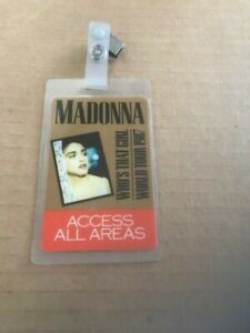 Madonna Original Who's That Girl All Access Laminate 1987 World Tour Rare