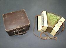 HOHNER Preciosa Hand- Ziehharmonika Akkordeon mit original Koffer 21x21x13cm