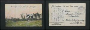 Postcard German South West Africa Good State Hereros Destroyed Business House (1