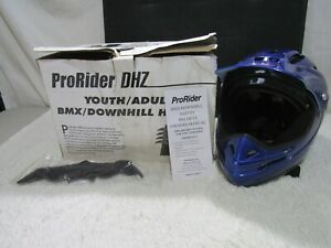 ProRider DHZ Blue Youth/Adult, Large/ Extra Large BMX/Downhill Helmet