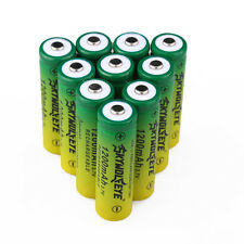 10PC 1200mAH SKYWOLFEYE 14500 3.7V Li-ion Lithium Rechargeable Battery For Torch