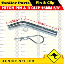 "HITCH PIN & R CLIP 16MM 5/8"" TOWBAR DROP TOW BAR TRAILER 4WD BALL MOUNT BOAT"