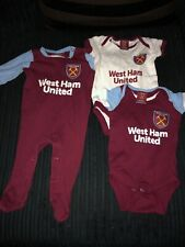West Ham United F.C 3//6 Months Sleepsuit GIFT BABY