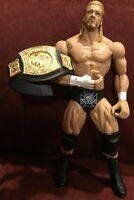 "2010 Mattel Toys WWE Wrestling Action Figure Triple H Championship Belt  7.5"""