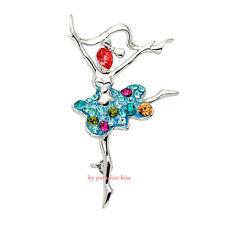 spilla da donna cristallo swarovski elements ballerina SP81