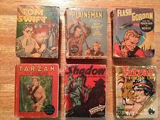 Lot of 12 Big Little Books (1930s) Tom Swift, Flash Gordon, Tarzan, and more