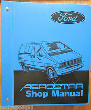 1987 Ford Motor Company Aerostar Automotive Shop Manual Fps-12046-87