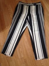 BNWT  M&S Collection Regular Black&Cream Tapered Trouseres SIZE 22 RRP £ 29.50