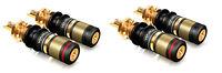 4 Stück Viablue T6s / HighEnd Polklemmen / für Lautsprecher und Verstärker