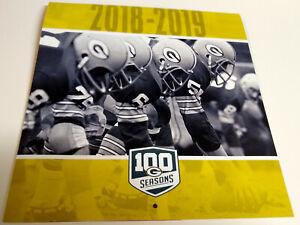 Green Bay Packers 2018 2019 Calendar 100 Seasons Season Ticket Holder Giveaway