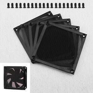 120mm Mesh Case Cooler Fan 5x Dustproof Dust Filter Cover Grill Set