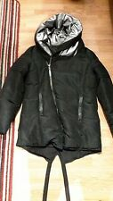 unconditional black & silver goose down coat