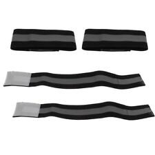 2 Pair Reflective Wrist Arm Band Jogging Walking Biking Safety Gear Black