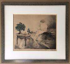 Gravure Originale Le Jardin Japonais Louis Icart 1925 Graveurs Modernes Signée
