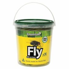 Envirosafe FLY ATTRACTANT REFILL TUB 36 Pcs Pesticide Free & Food Grade AUS Made