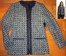 NWT $248 Tahari Sandra Black Tweed Zip Jacket 10