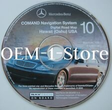 02 2003 MERCEDES BENZ S430 S500 S600 S55 NAVIGATION DISC MAP CD 10 HAWAII OAHU