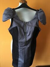 Ladies black and grey dress by Rare size 8 BNWT