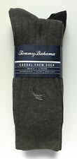 (4) Pairs of Tommy Bahama Men's Casual Crew Socks - Charcoal & Navy