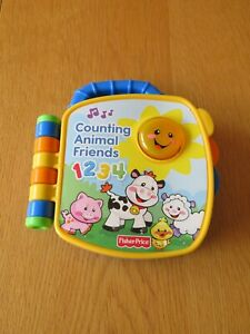 Counting Animal Friends Fisher Price Musical Electronic Baby Book Learning Toy