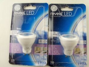 2-Pack GE Reveal LED 3.5W 200-Lumen GU10 Dimmable Light Bulbs