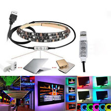 Flexible Bright LED Strip Light USB Cable LED TV Background Lighting Kit Candy