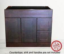 "Bathroom Vanity Cabinet Drawer Espresso Shaker Single Sink 36"" W x 21"" D"