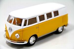 """5"""" Kinsmart Classic 1962 Volkswagen Bus Van Diecast Model Toy 1:32 VW- Yellow"""