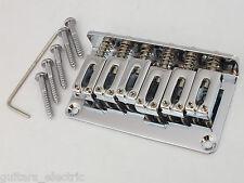 HARD Tail Chrome BRIDGE + stringa attraverso il corpo o caricamento superiore per chitarra elettrica