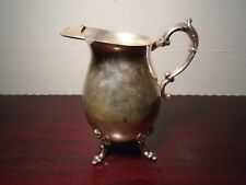 Antique Sheridan Silver on Copper Footed Water Pitcher with Ice Lip Beautiful A2