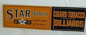 Model Smoking Tobacco Embossed Metal Sign 12x36 Advertising