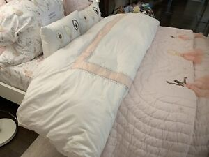 NEW POTTERY BARN KIDS  MONIQUE LHUILLIER ETHEREAL DUVET  Full Queen & 2 Shams