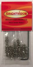 100 SHORT LENGTH Silver 2-56 Hex-Drive Button-Head Screw-In Rivets For Customs