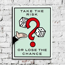 Alec Monopoly ''Teke the Risk'' HD Canvas Print Home Decor Wall Art Pictures