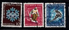 Switzerland 1947 Mi. 493-495 Used 100% Olympic Games