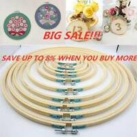 Bamboo Handmade Diy Round Loop Cross Stitch Frame Sewing Tools Embroidery Hoop