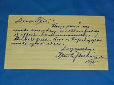 """Vintage Baseball Autograph Signed Index Card, FRED """"CY"""" WILLIAMS (#52)"""