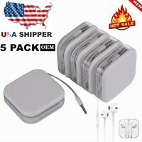 5 PCS New For iPhone 5 6 SE 4S Wired 3.5MM Jack Headphones Headset Earbuds Gifts