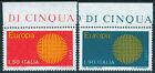REP.IT.1970 EUROPA BORDO DI FOGLIO (B) SERIE COMPLETA
