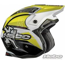 HEBO 2016 CASCO HELMET ZONE 4 LINK GIALLO YELLOW MOTO TRIAL SCOOTER JET SIZE S