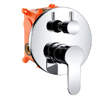 Bathroom Shower mixer control valve with diverter Complete Set Valve in Chrome