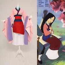 Tradizionale Cinese Mulan Classico Gonna Cosplay Costume Festa adulto Su Misura