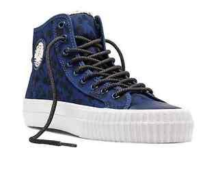 PF FLYERS PM14OH3E CENTER HI ANIMAL Unisex (M) Navy Canvas Hi-Top Skate Shoes