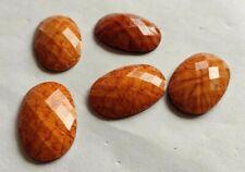 China Orange Cabochon Quartz Beads Strands 38X28 MM Loose Gemstone Jewelry Gifts