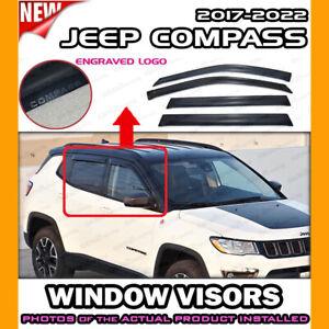 WINDOW VISORS for 2017 → 2022 Jeep Compass / DEFLECTOR RAIN GUARD VENT